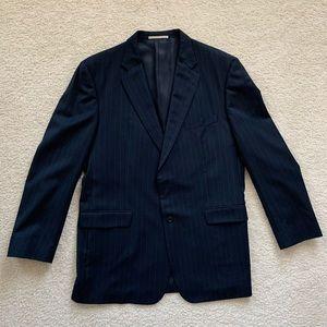 NWOT Burberry Navy Blue Striped Wool Blazer 46L